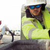 worker wearing safety eyewear