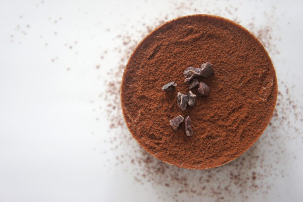 close up of chocolate powder